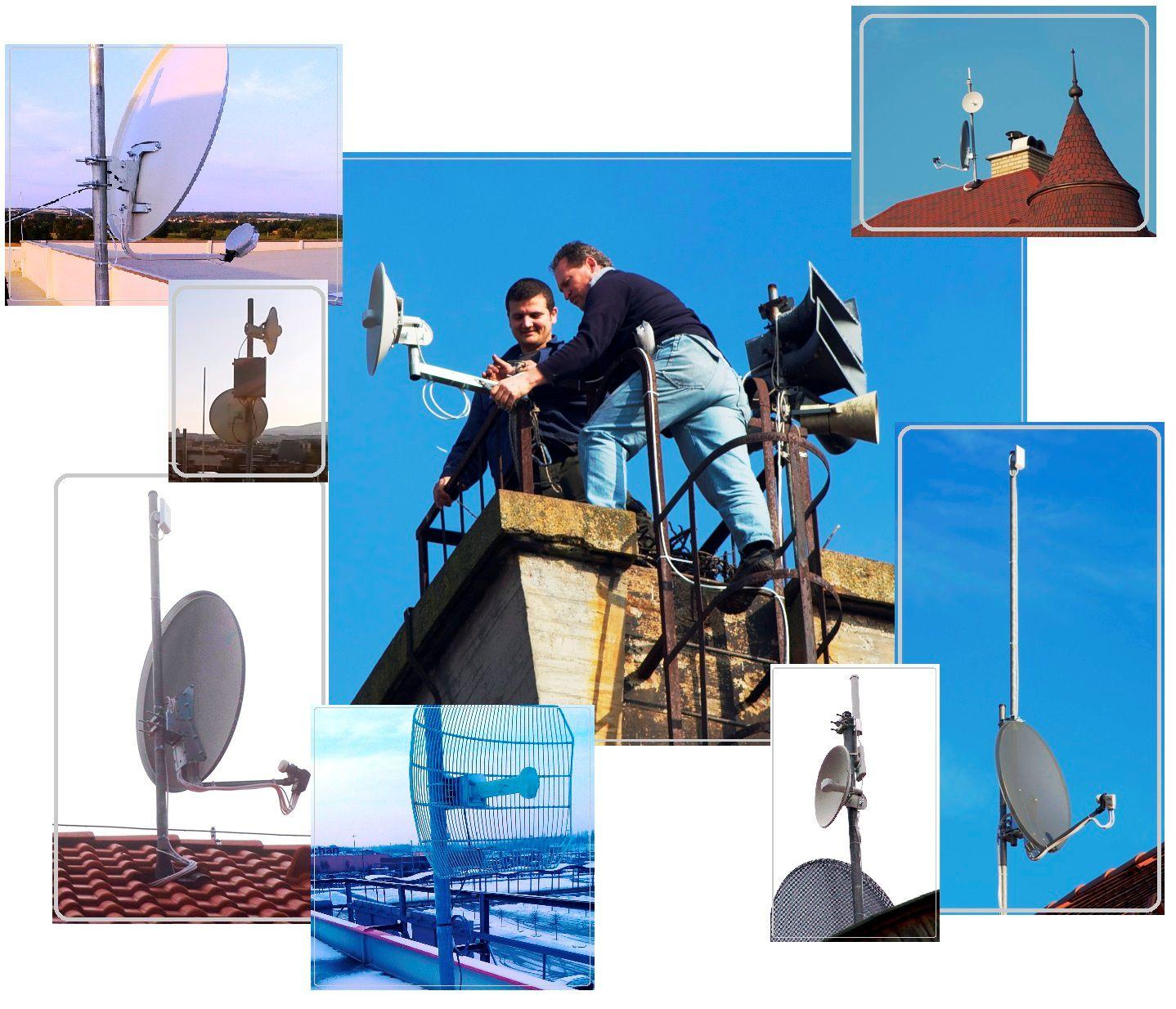 Mikrohullámú antenna szerelés