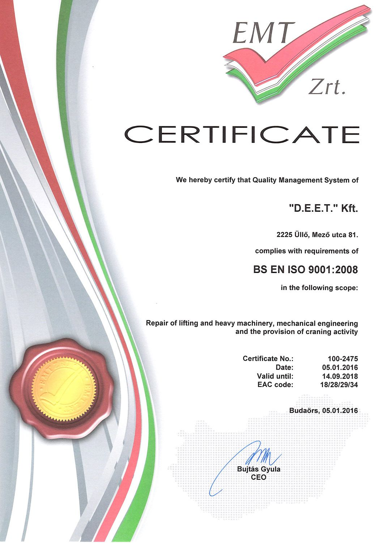 Deet faruzás ISO2016
