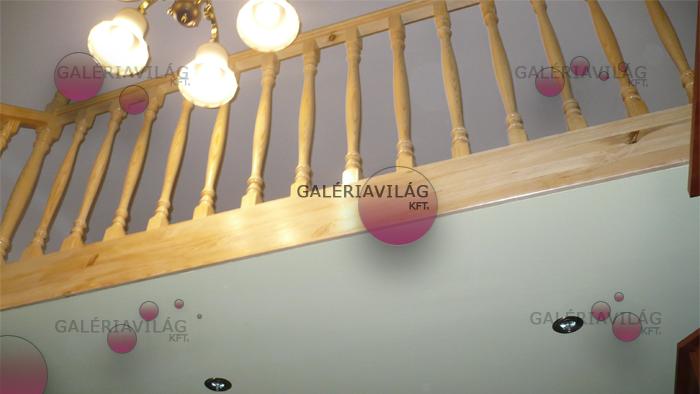 Galéria készítés gipszkarton alsó borítással, spotlámpa beépítéssel