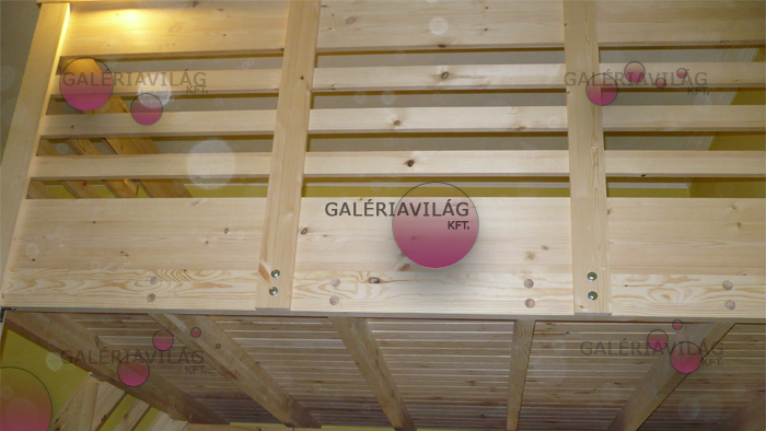 Galériaépítés borovi fenyőből